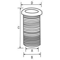 Durchführung Kabeldurchlass 65 mm Grau-