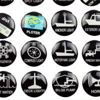 24 Schaltsymbole Aufkleber für Boote