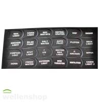 24 Schaltersymbole selbstklebend für Bootkonsolen-