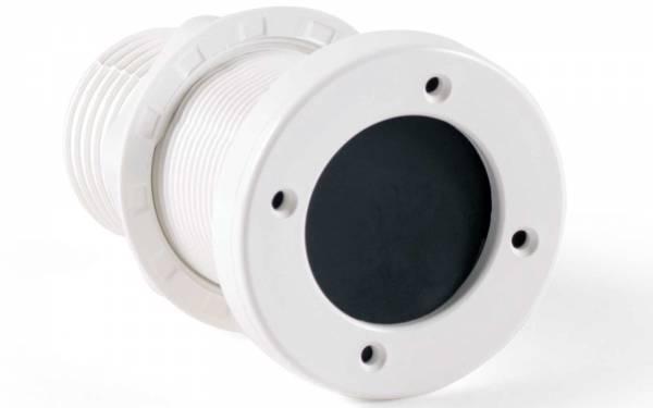 Borddurchlass Ø55mm Kunststoff Weiß mit Rückschlagventil und Klappe