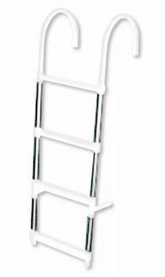 Badeleiter 4 Stufen Aluminium Bild 1