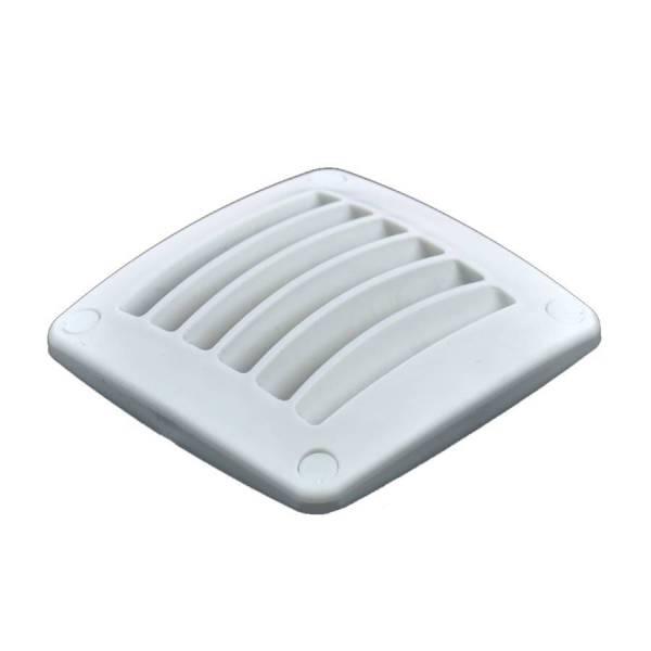 Lüftungsgitter Kunststoff Weiß einfach 92 x 92 mm
