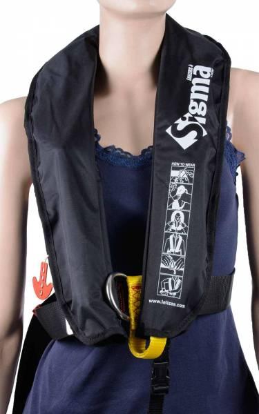 Rettungsweste Lalizas Sigma 170N manuelle & automatische Auslösung schwarz Bild 2