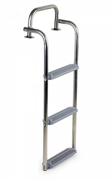 Badeleiter Edelstahl Kunststoff 3 Stufen klappbar zum Anschrauben