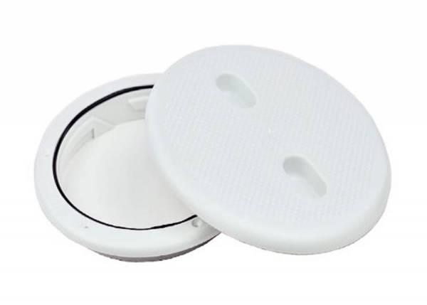 Inspektionsdeckel 205 mm Weiß