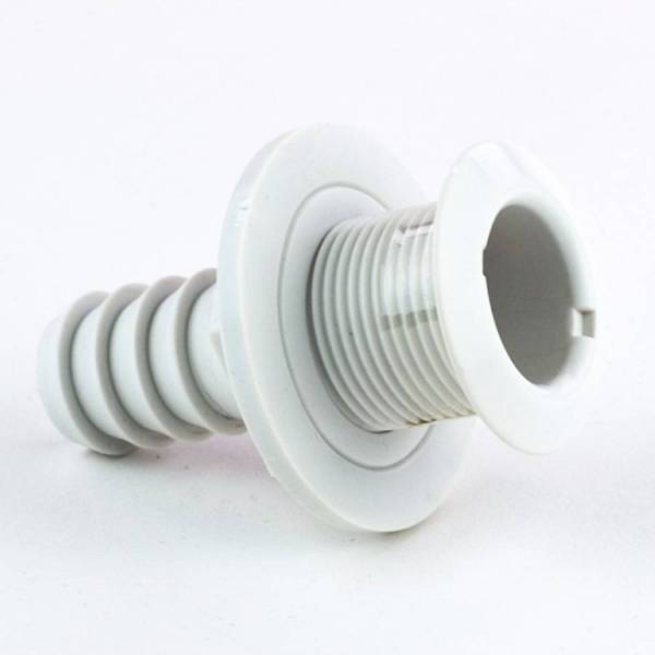 Borddurchlass 3/4 Zoll, Kunststoff Weiß
