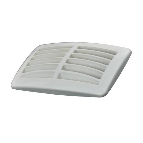 Lüftungsgitter Kunststoff Weiß doppelt 95 x 179 mm