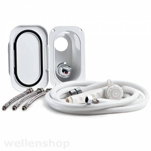 Duschset Brausekopf Mischbatterie & 5m Duschschlauch-