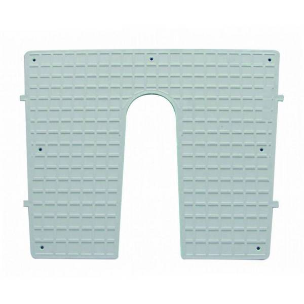 Heckschutzplatte für Außenborder 450 x 360 mm keilförmig