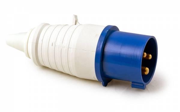 CEE Stecker 3-polig weiß/blau-
